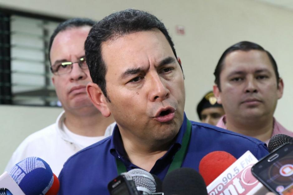 Morales comentó que los que dicen que no tiene una hoja de ruta son los que invitan a desayunos y no pagan impuestos. (Foto: Alejandro Balán/Soy502)