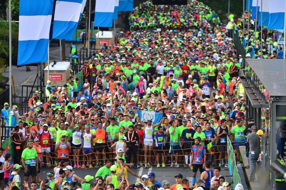 La salida tuvo diferentes grupos, para evitar atascos. (Foto: Jesús Alfonso/Soy502)