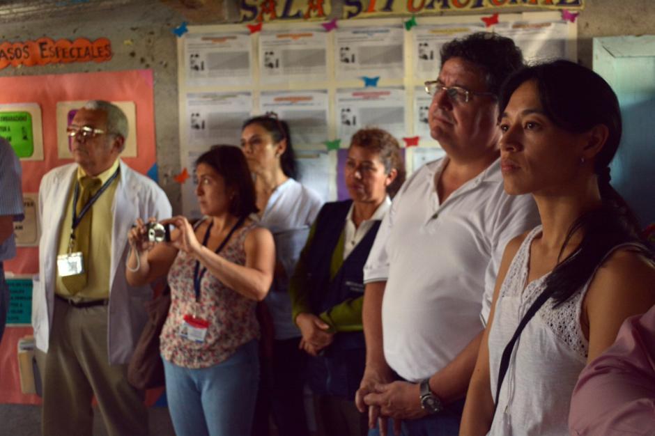 La ministra de salud visitó un centro de salud en Cuilco, Huehuetenango. (Foto: MSPAS)