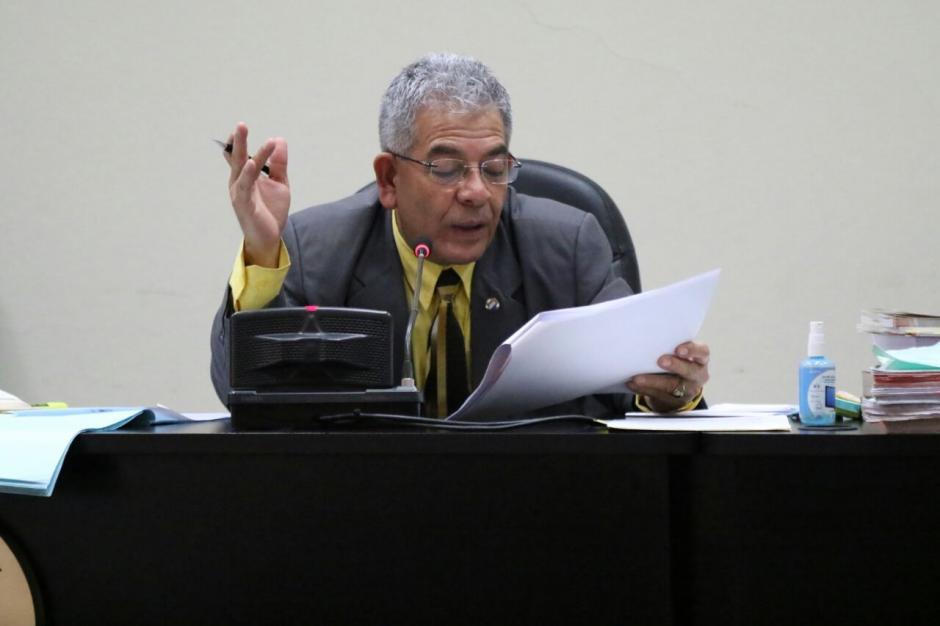 El juez Miguel Ángel Gálvez decidió que fuera el Tribunal B de Mayor Riesgo el designado para desarrollar el juicio. (Foto: Alejandro Balán/Soy502)
