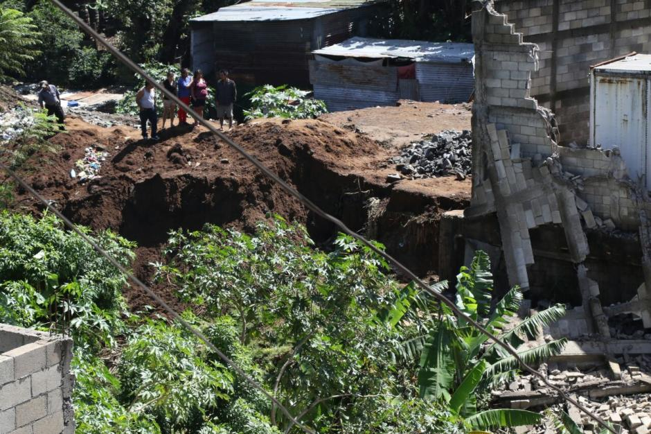 Al menos 30 familias quedaron afectadas luego del deslizamiento. (Foto: Alejandro Balán/Soy502)