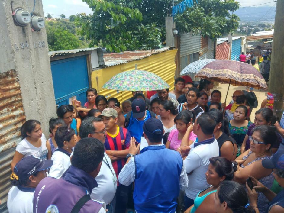Unas 72 familias son las que permanecen en riesgo debido a un reciente deslizamiento. (Foto: Municipalidad de Villa Nueva)