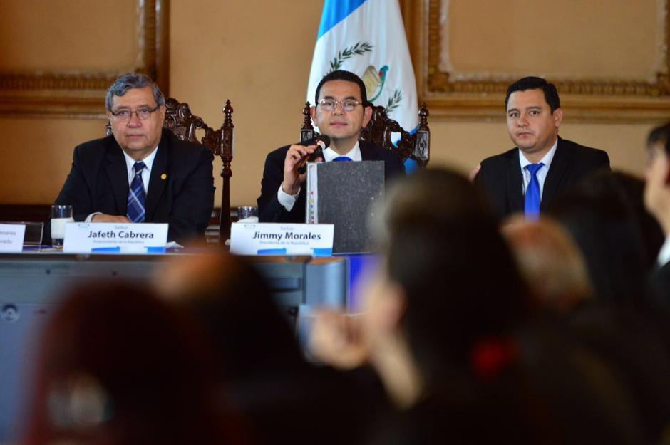 Morales calificó la iniciativa como la propuesta del clamor popular. (Foto; Jesús Alfonso/Soy502)
