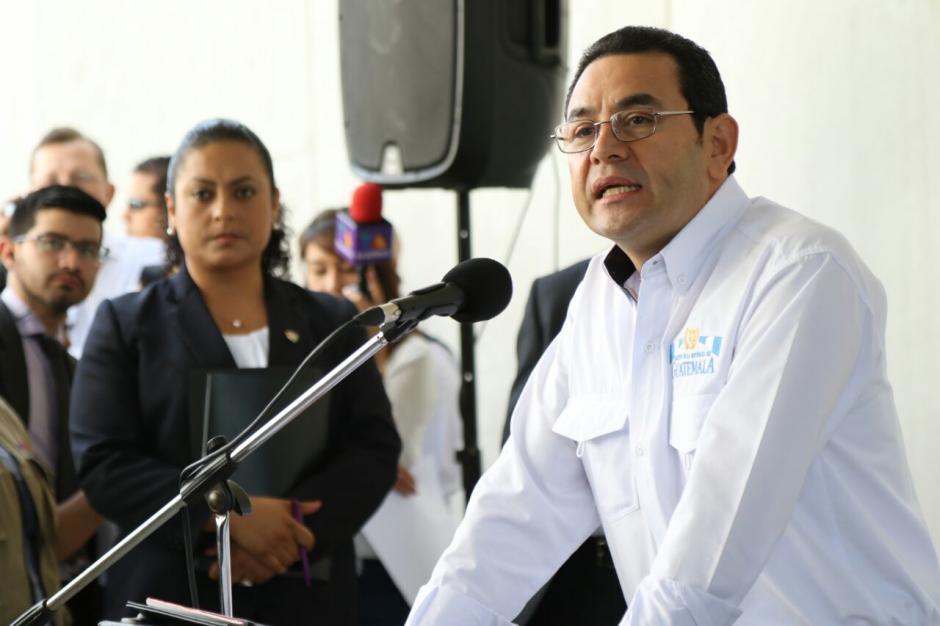 El presidente Jimmy Morales responsabilizó al Congreso de la República si algo sucede en una zona de riesgo. (Foto: Alejandro Balán/Soy502)