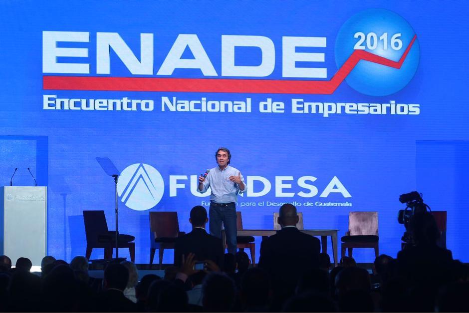 Durante su presentación en el ENADE 2016 compartió su experiencia. (Foto: Jesús Alfonso/Soy502)