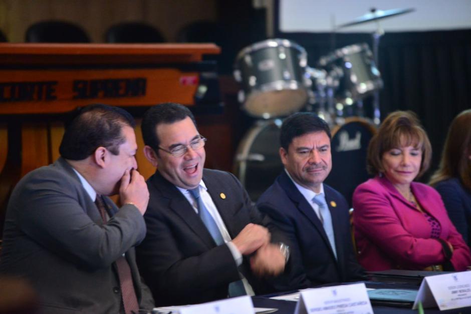 El informe fue presentado en un acto protocolario en la Sala de Vistas de la CSJ, en el que participó el presidente Jimmy Morales. (Foto: Jesús Alfonso/Soy502)