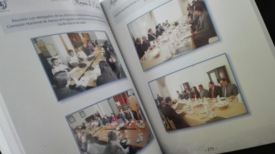 El 66% de la Memoria de Labores está compuesto por fotografías, páginas en blanco y división de capítulos. (Foto: Marcia Zavala/Soy502)