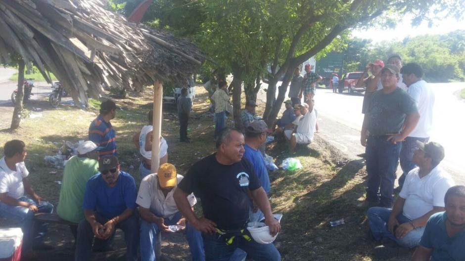 Se espera que en las próximas horas se les unan las aduanas de San Cristóbal y Pedro de Alvarado. (Foto: Rony Mendoza/ Secretario Gremial de Transporte Pesado)