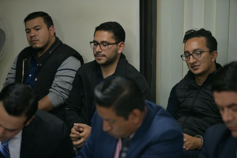 Los tres acusados fueron beneficiados con medida sustitutiva. (Foto: Wilder López/Soy502)