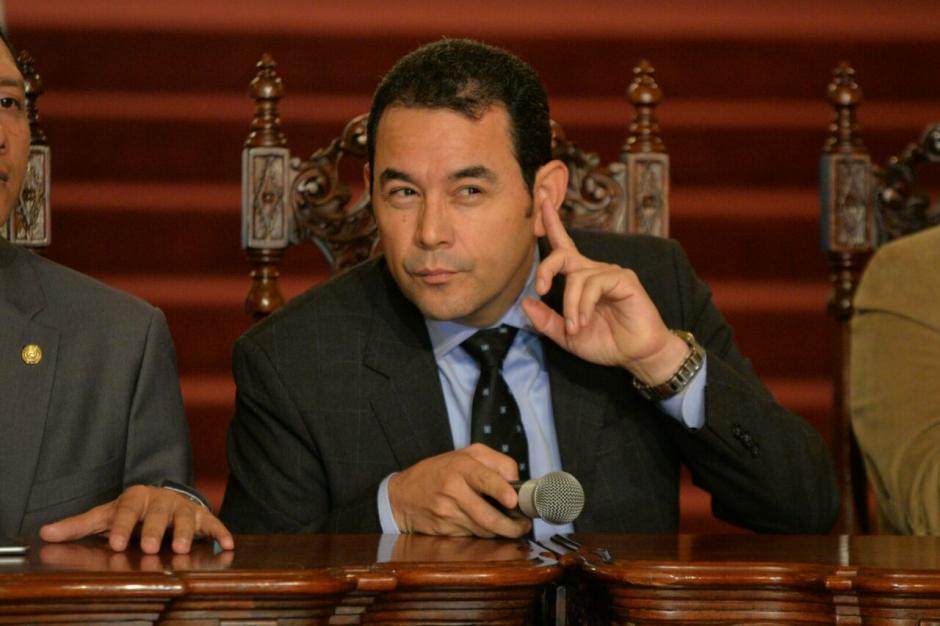 El presidente Morales se comprometió con los transportistas en mejorar la infraestructura vial nacional. (Foto: Wilder López/Soy502)