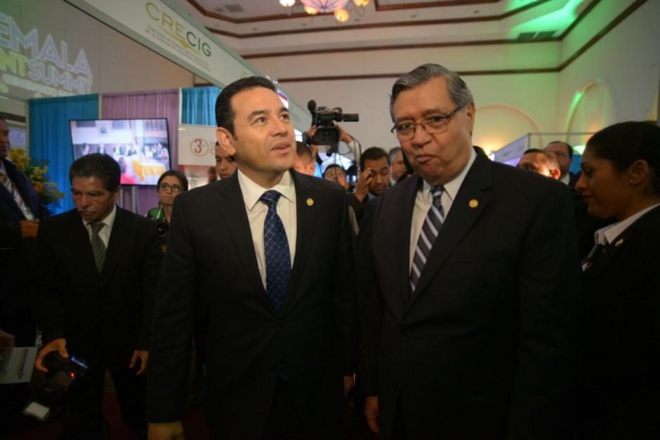 Cabrera acompañó al Presidente durante el evento. (Foto: Wilder López/Soy502)