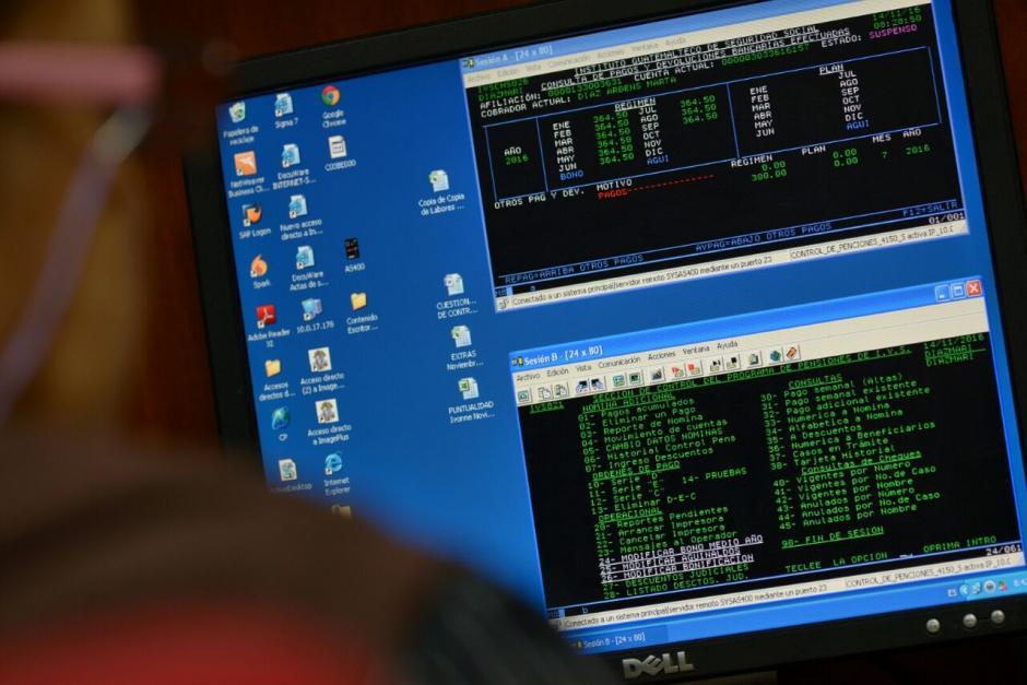 Este es el sistema que el IGSS utilizó por 25 años, conocido como AS/400. (Foto: Wilder López/Soy502)