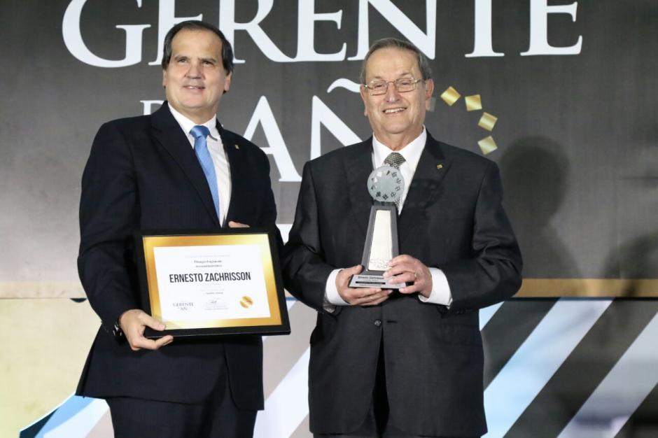 Ernesto Zachrisson, del Grupo ALMO fue galardonado con el premio Gestión Global. (Foto: Alejandro Balán/Soy502)