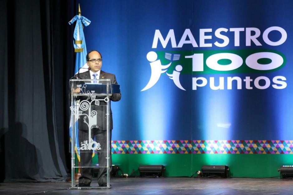 El Ministro de Educación, Oscar Hugo López, estuvo presente en la actividad. (Foto:  Alejandro Balán/Soy502)