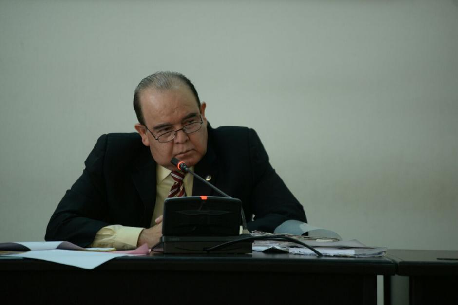El juez Walter Villatoro decidió atender la audiencia de primera declaración. (Wilder López/Soy502)