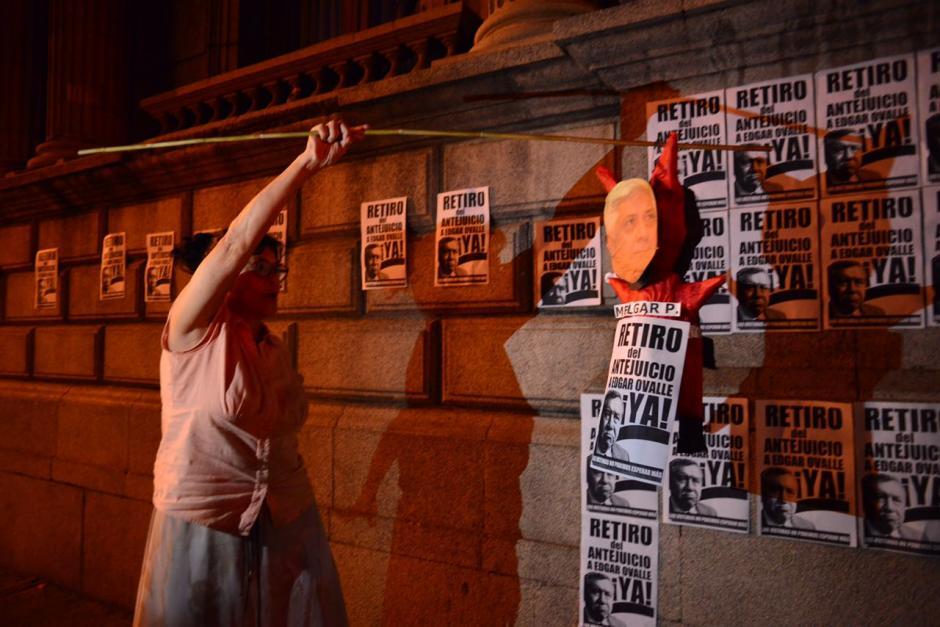 Una de las principales peticiones es que se retire el antejuicio al diputado Edgar Ovalle. (Foto: Jesús Alfonso/Soy502)
