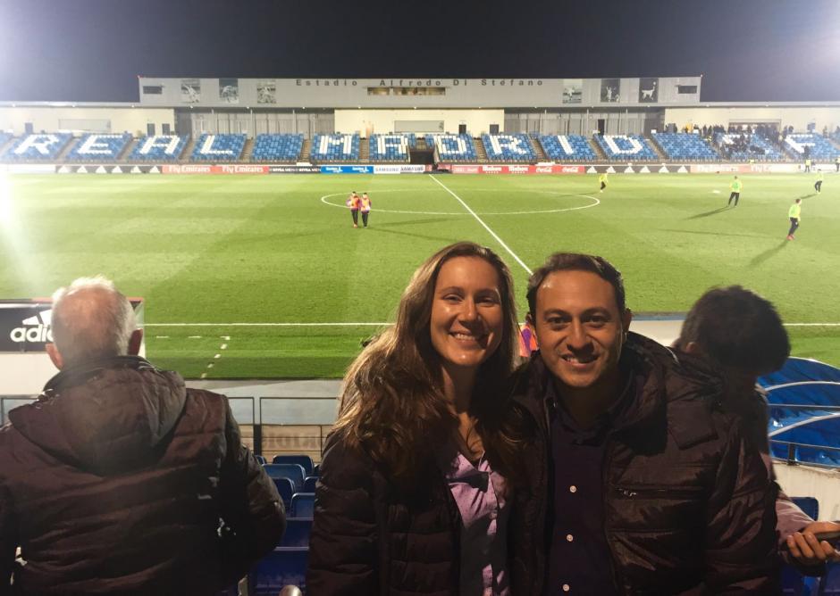Junto a su esposa, Juan Francisco está viviendo un verdadero sueño en Madrid. (Foto: Juan Francisco Roldán)