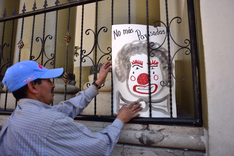 Los sindicalistas cuestionaron el actuar de las autoridades del Ejecutivo. (Foto: Jesús Alfonso/Soy502)