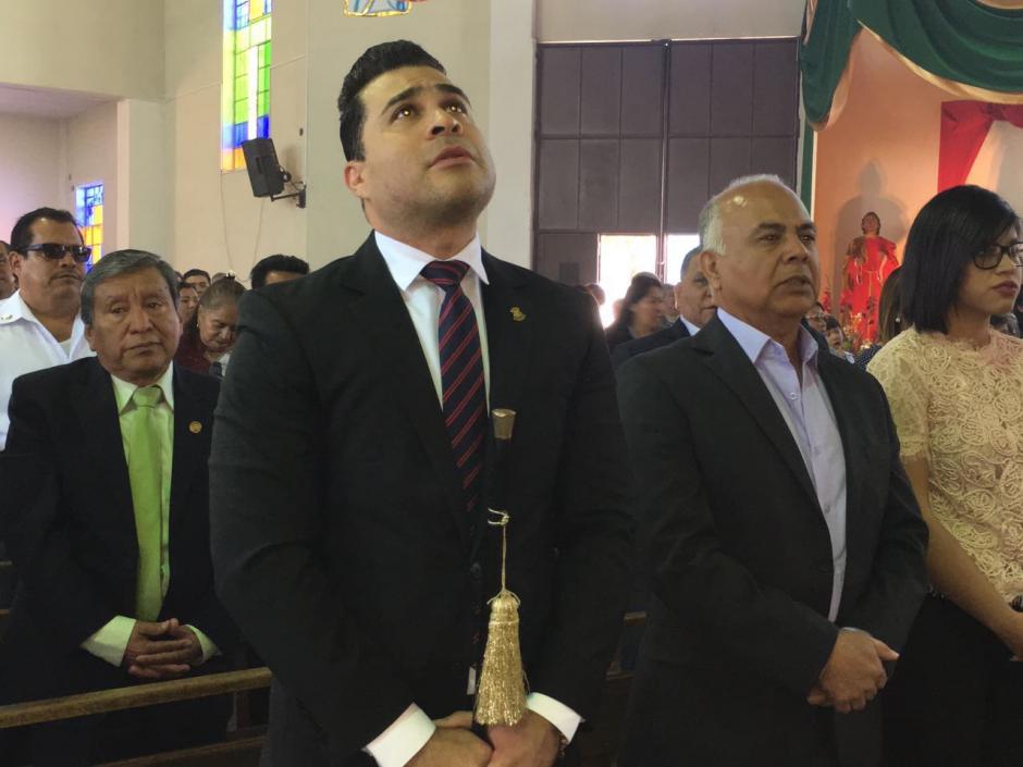 Neto Bran celebró con una misa su primer año al frente de la municipalidad de Mixco. (Foto: Municipalidad de Mixco)