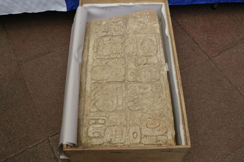 Esta estela fue robada del sitio arqueológico Aguateca, el cual fue saqueado en los años 90. (Foto: Alejandro Balán/Soy502)