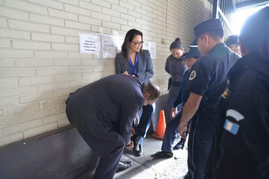 Baldetti fue trasladada hacia la Torre de Tribunales por el caso La Línea. (Foto: Wilder LópezSoy502)