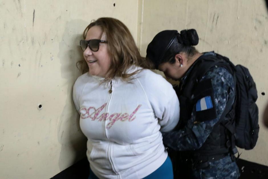 Blanca Stalling minutos después de llegar a Tribunales tras su captura. (Foto: Ale