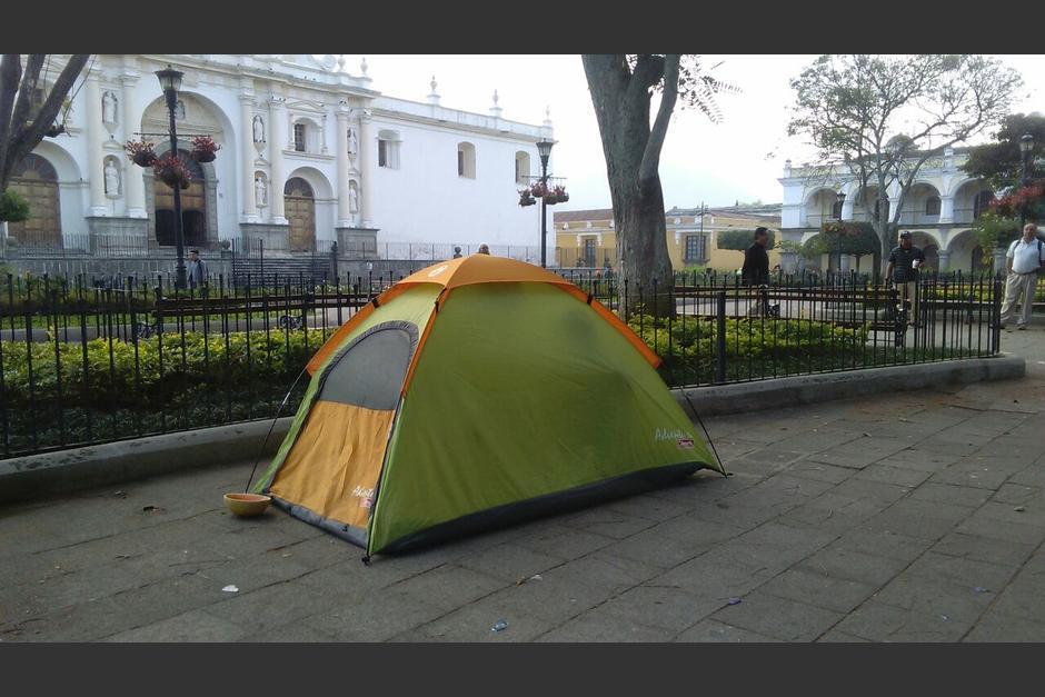 La casa de campaña se encontraba cerca de la fuente de las Sirenas. (Foto: Pablo Solís/Nuestro Diario)