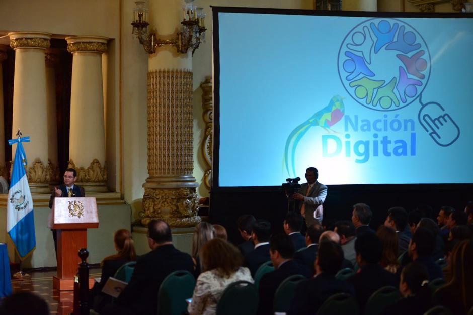 El Presidente dio un discurso durante la actividad. (Foto: Jesus Alfonso/Soy502)