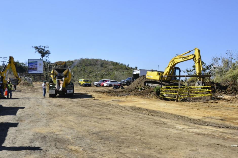 La obra tendrá una longitud de 1.3 kilómetros entre Minervas y El Naranjo. (Foto: Muni Mixco)