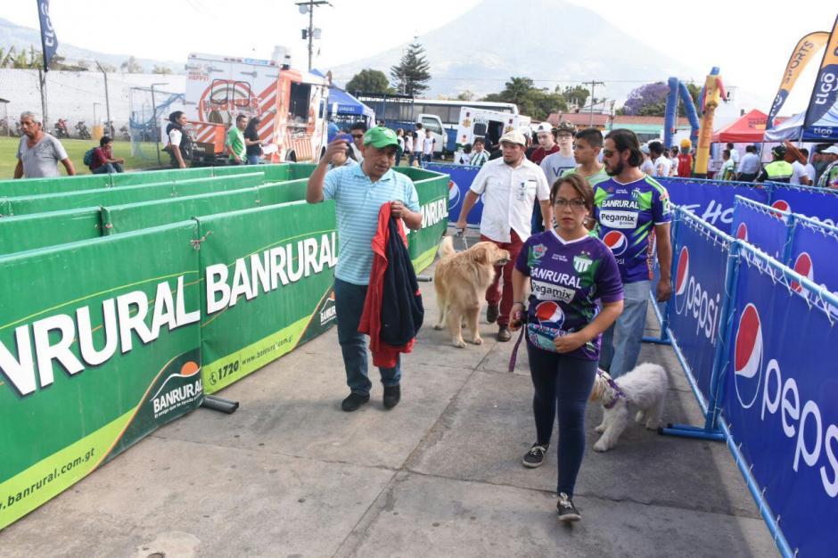 Los aficionados apoyaron la campaña de la asociación Guate Unida por los Animales. (Foto: Pablo Solís/Nuestro Diario)