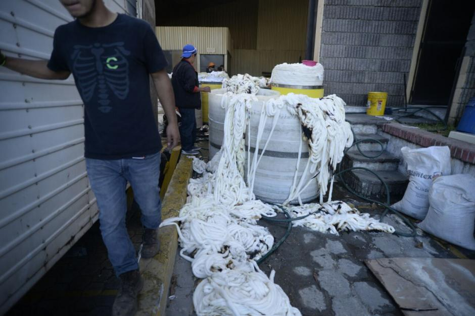 Las bodegas resguardaban materiales inflamables. (Foto: Wilder López/Soy502)