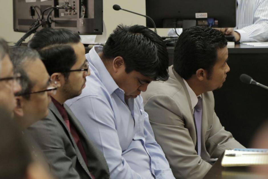 Manuel Marcelino García Chutá mantuvo la vista hacia abajo en la audiencia. (Foto: Alejandro Balán/Soy502)