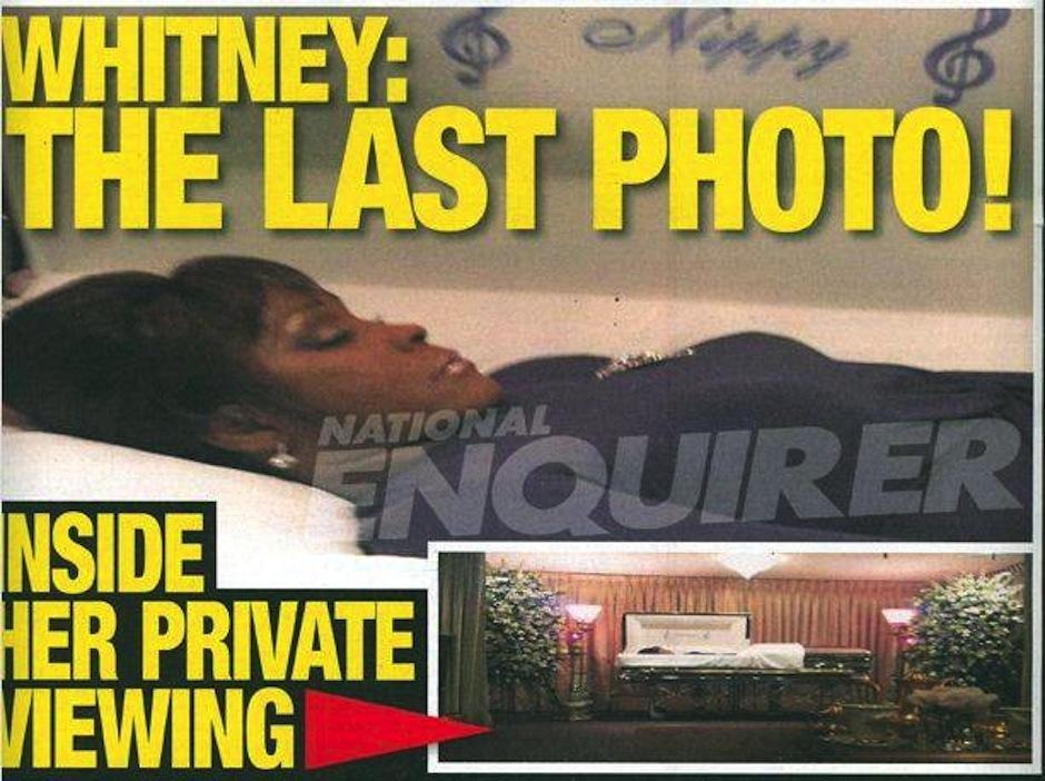Whitney Houston, una de las muertes más sorpresivas, llamó la atención madiática en su funeral. (Foto: Ranker)
