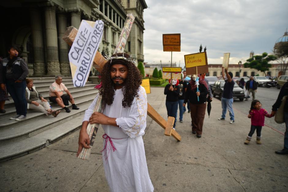 En la protesta hubo diferentes expresiones. (Foto: Wilder López/Soy502)