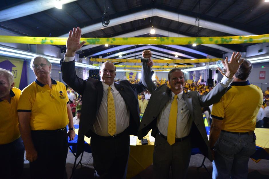 Juan Gutiérrez y Manuel Marroquín fueron proclamados como candidatos a la Presidencia y a la Vicepresidencial del PAN. (Foto Wilder López/Soy502)