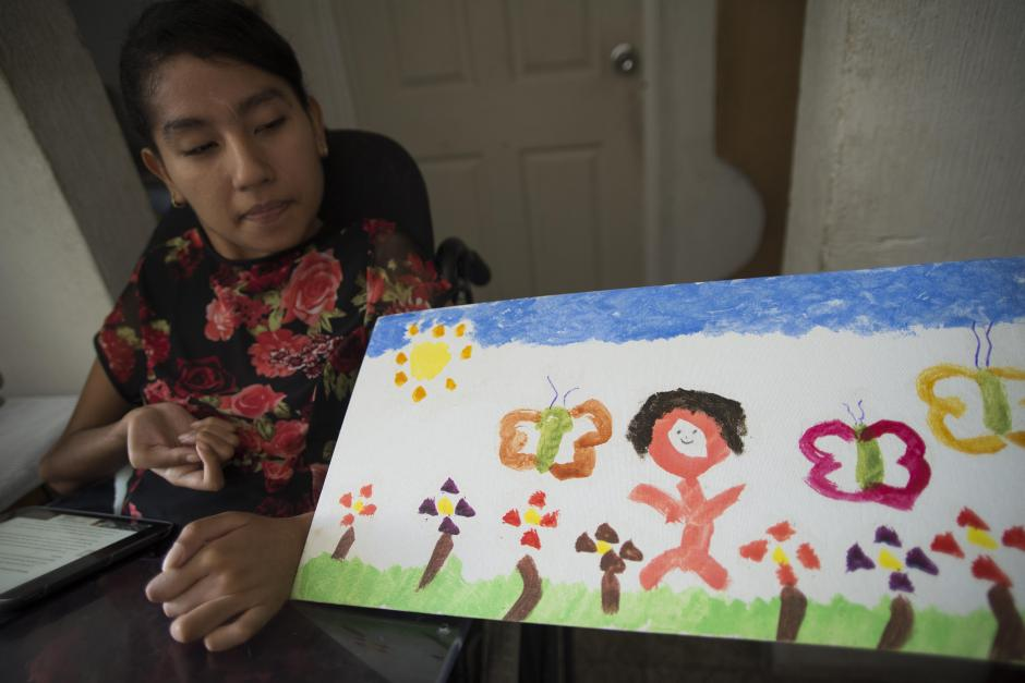 Esta es la primera pintura que Andrea realizó como parte de su terapia. (Foto: Wilder López/Soy502)