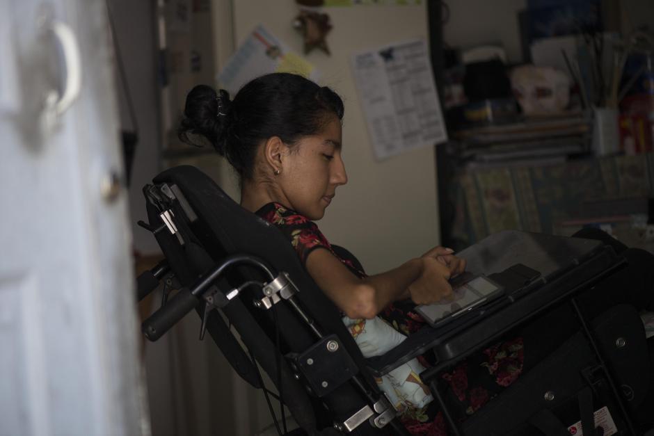 A pesar de su condición no existen limitantes para Andrea. (Foto: Wilder López/Soy502)