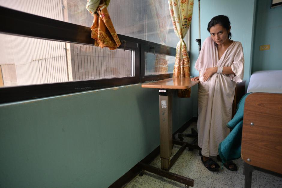 Sofia Turuy de 35 años es una de las pacientes que no recibe visitas. (Foto: Wilder López/Soy502)