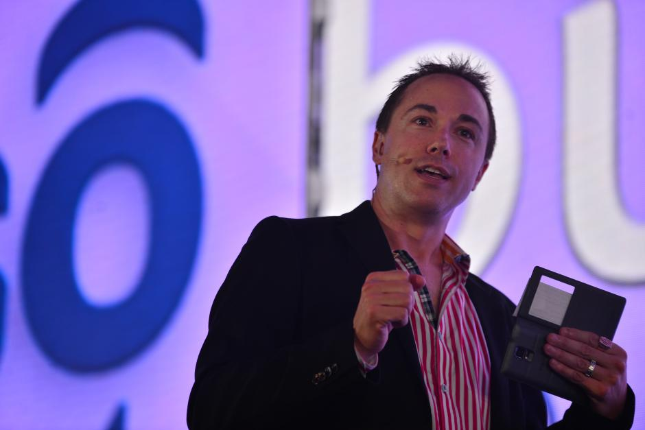 Jeff Wallace, fundador de la empres Global Kinetics, aseguró que la movilidad es la tendencia a la que apuntan las empresas. (Foto: Wilder López/Soy502)