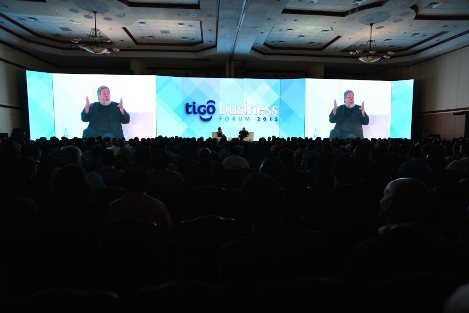 Steve Wozniak fue la estrella del evento. Su intervención fue ovacionada por los asistentes al evento. (Foto: Wilder López/Soy502)