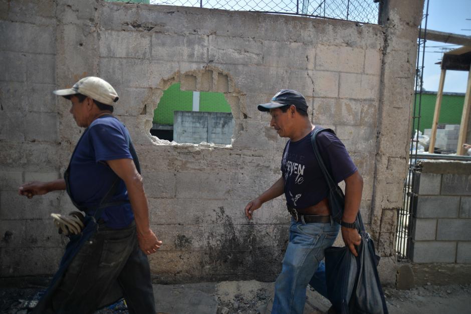 Los trabajos de construcción continúan en el lugar del siniestro. (Foto: Wilder López/Soy502)