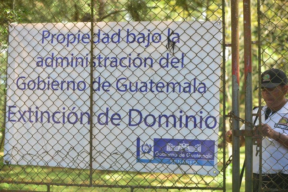 La finca es pasó a se administrada por el gobierno luego de ser expropiada por un proceso de extinción de domino. (Foto: Wilder López/Soy502)