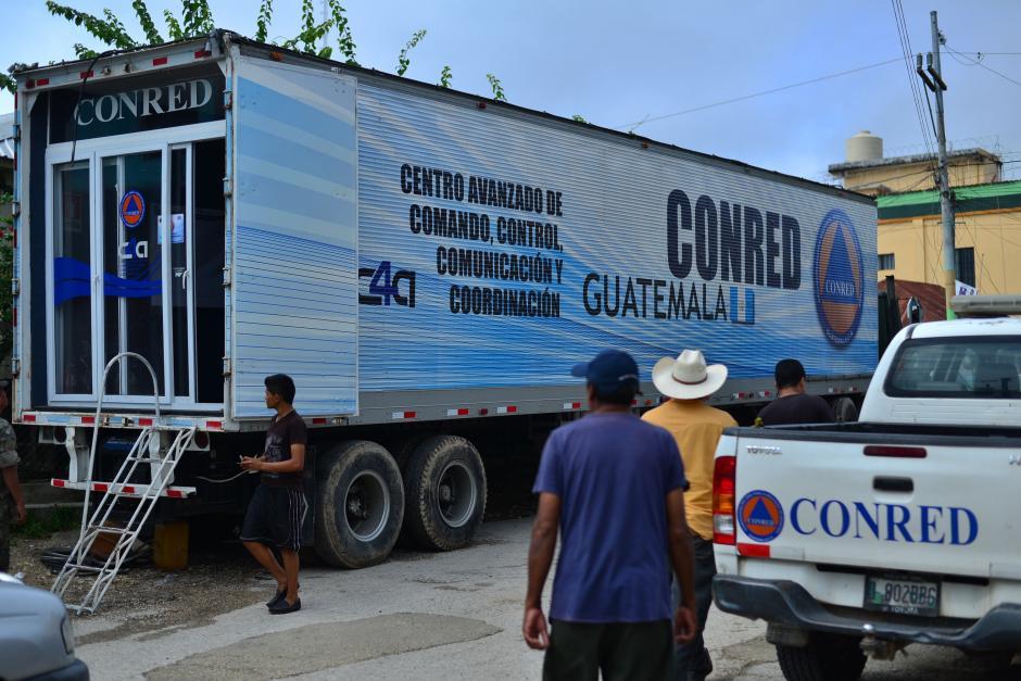 Conred cuenta con una unidad de apoyo y monitoreo en el área, conocida como el Centro Avanzado de Comando, Control, Comunicación y Coordinación. (Foto: Wilder López/Soy502)