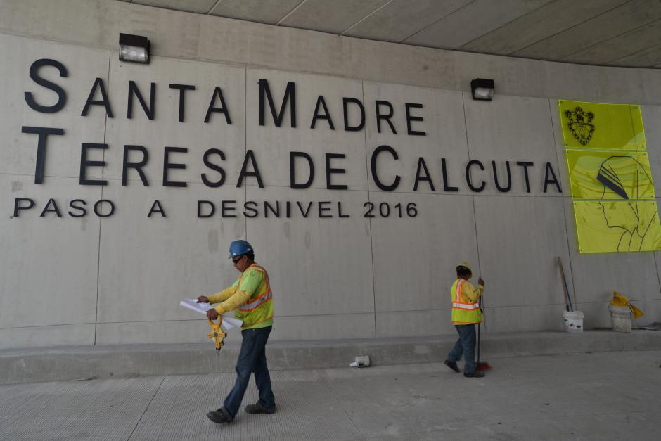 El paso a desnivel Santa Madre Teresa de Calcuta empezará a funcionar a partir del próximo miércoles 5 de octubre. (Foto: Wilder López/Soy502)