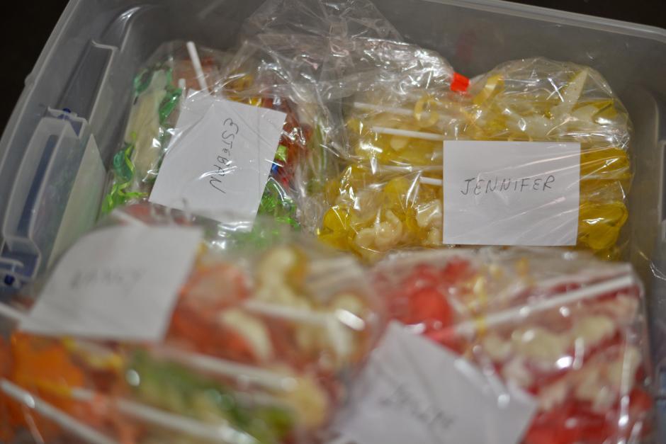 Cada bolsa con 40 paletas cuesta Q100. (Foto: Wilder López/Soy502)