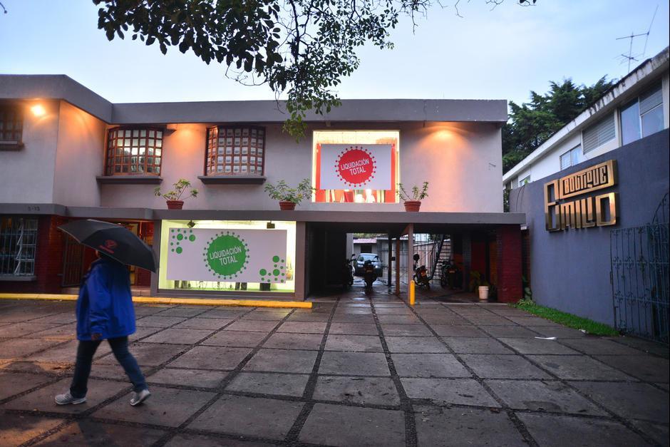 Así se veía la Boutique Emilio antes de que fuese cerrada. (Foto: Archivo/Soy502)