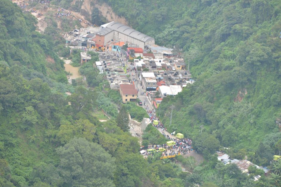 Imagen de El Cambray II, la zona donde ocurrió la tragedia por deslizamiento. (Foto: Wilder López/Soy502)