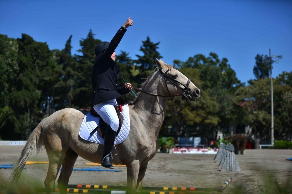 Ricardo Soussa celebra después de haber terminado su participación en la categoría A. (Foto: Wilder López/Soy502)