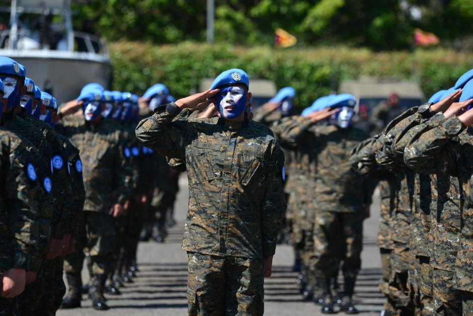 Cuerpos de paz también participaron en el acto protocolario celebrado en el Campo Marte. (Foto: Wilder López/Soy502)