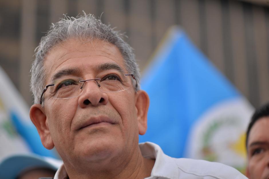 El juez Miguel Ángel Gálvez fue homenajeado en una manifestación. (Foto: Wilder López/Soy502)